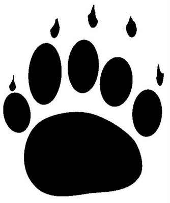 Pawprint clipart jpeg. Bear claw grizzly paw