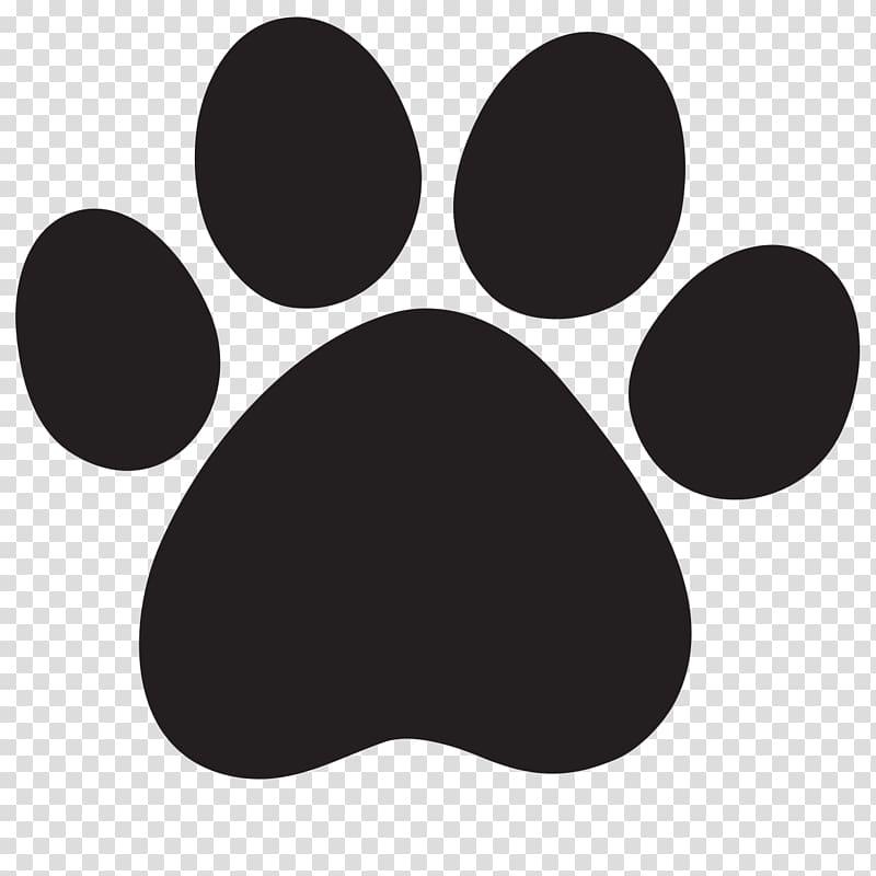 Black paw lion cougar. Pawprint clipart logo
