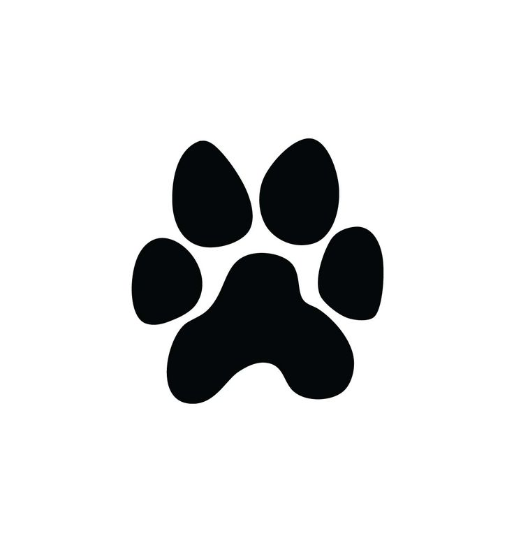 The best paw print. Pawprint clipart pow