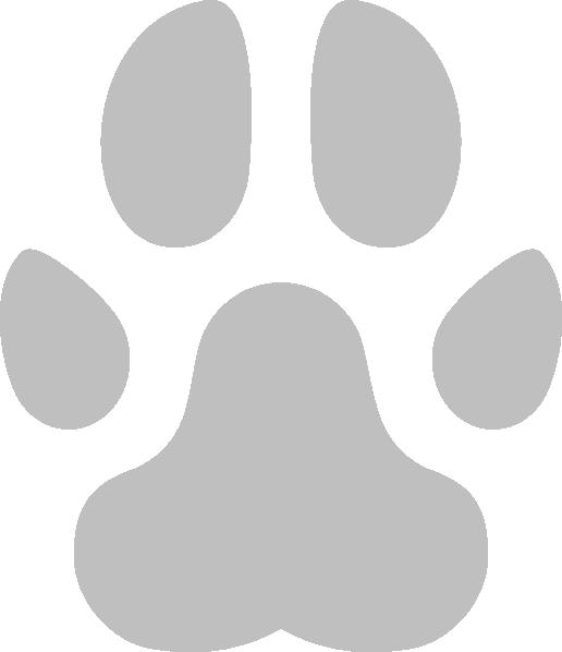 Pugmark clip art at. Pawprint clipart pug