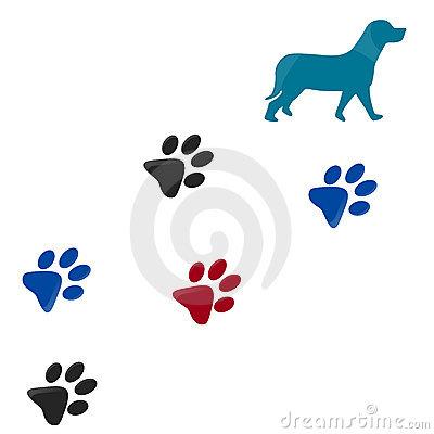 Pawprint clipart pug. Dog paw print clip