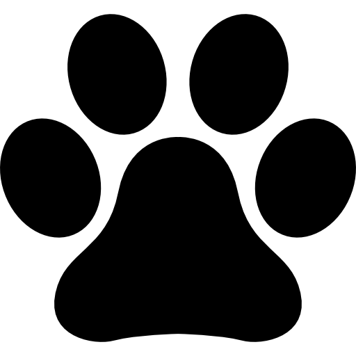 Animals icons free files. Pawprint clipart pug