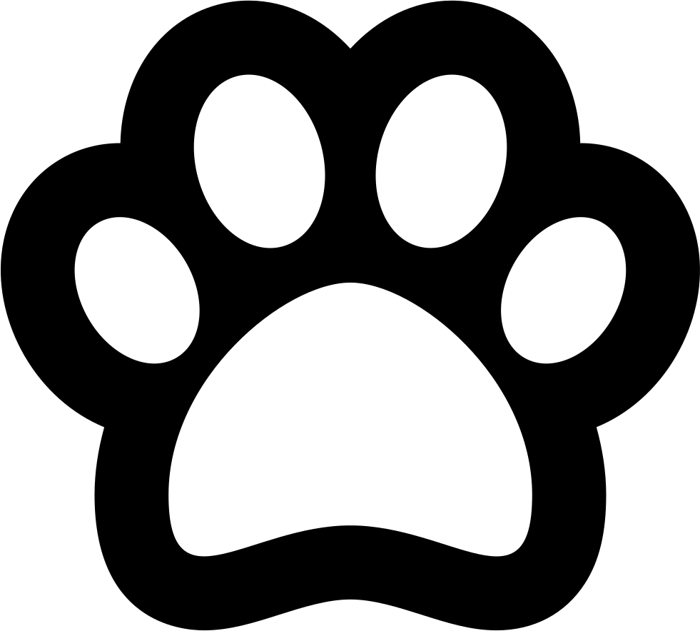 Cat paw animal png. Pawprint clipart pug