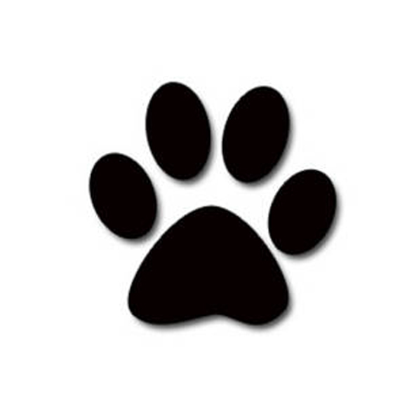 Free paw print image. Pawprint clipart small dog