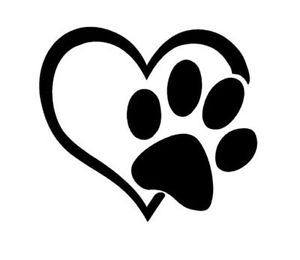 Details about puppy i. Pawprint clipart small dog