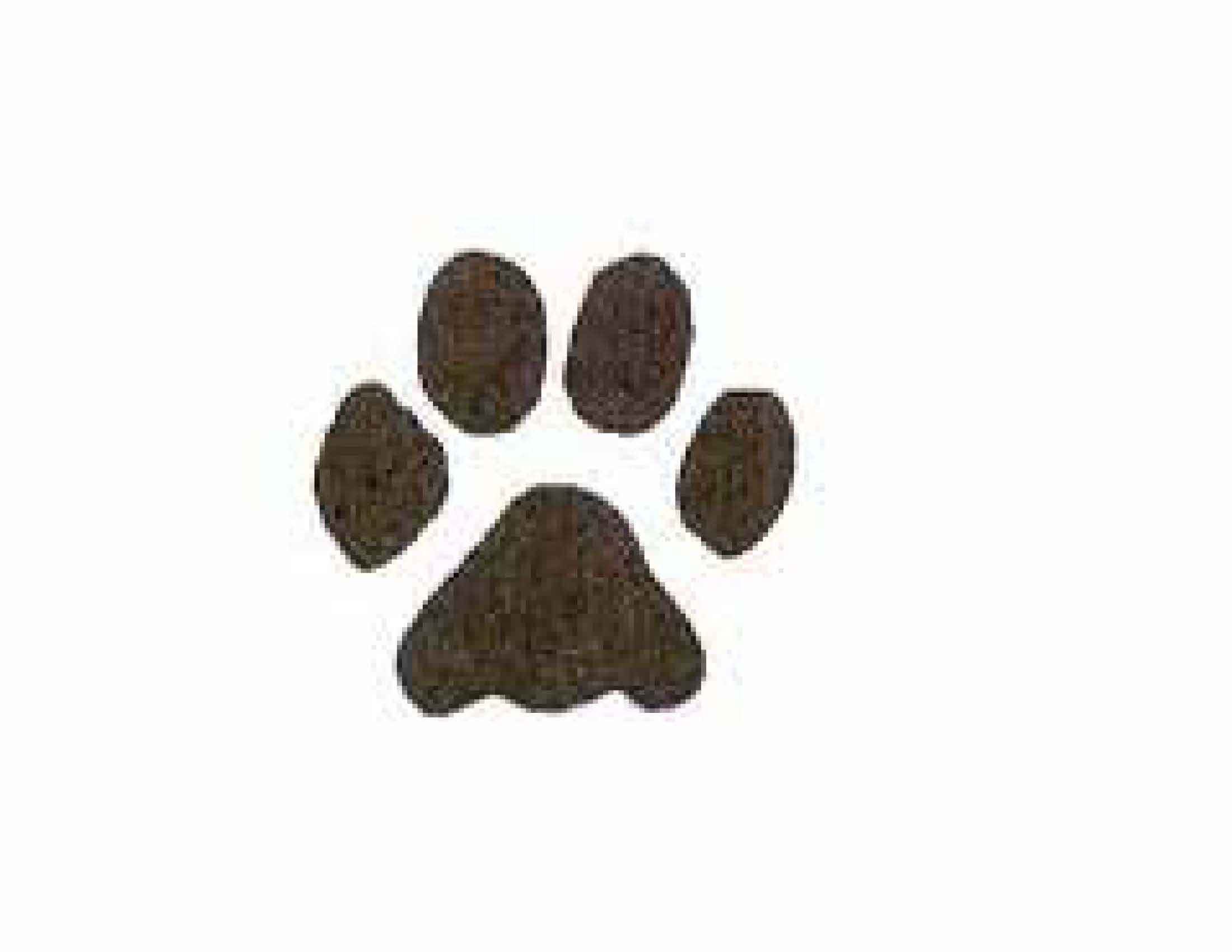 Pawprint clipart small dog. Free paw print download