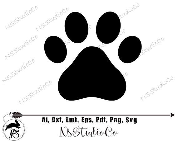 Paw print clip art. Pawprint clipart svg