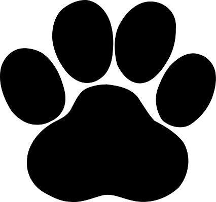 Cat paw print dog. Pawprint clipart svg