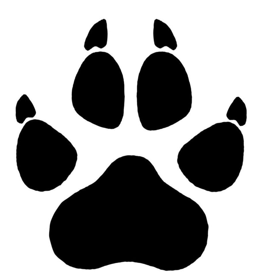 Pawprint clipart wolf. Paw print n free