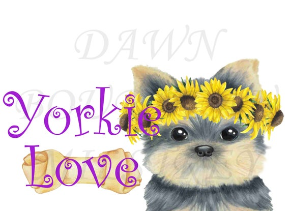 Pawprint clipart yorkie. Love digital dog puppy