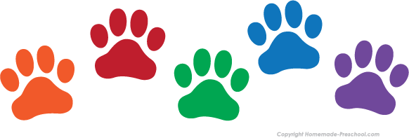 Pawprint clipart. Free paw prints click