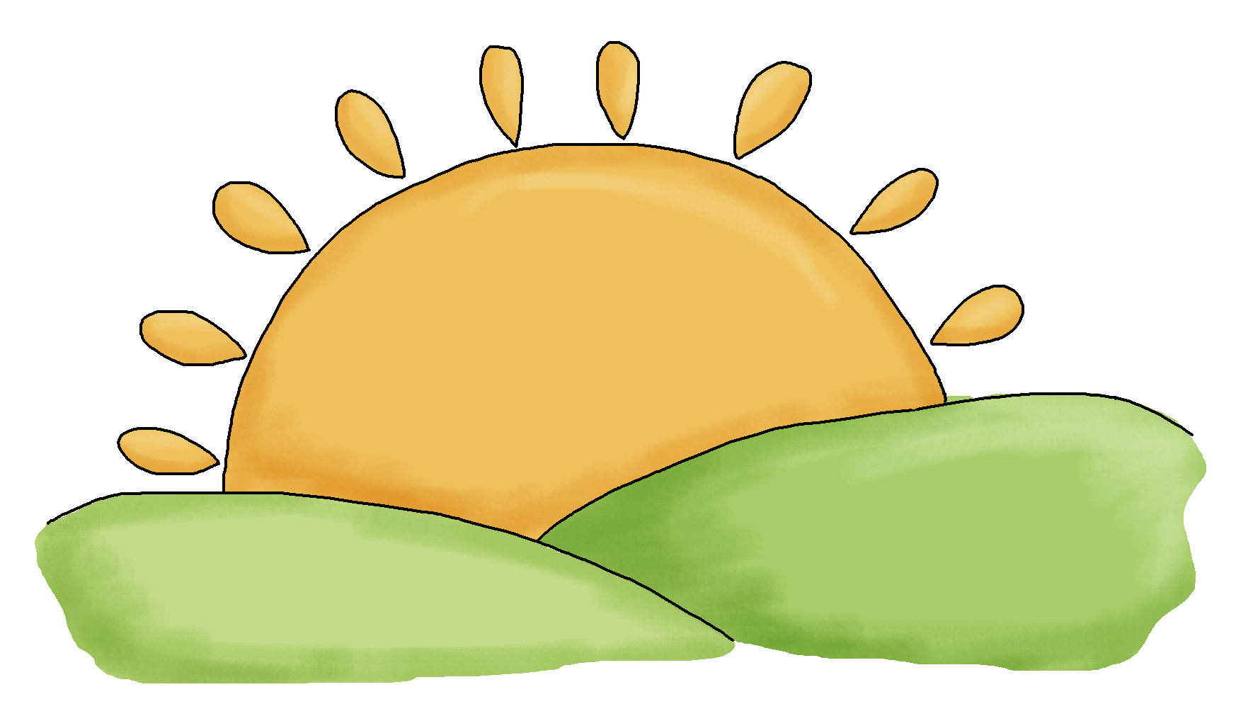 Free sunrise download best. Paws clipart artistic