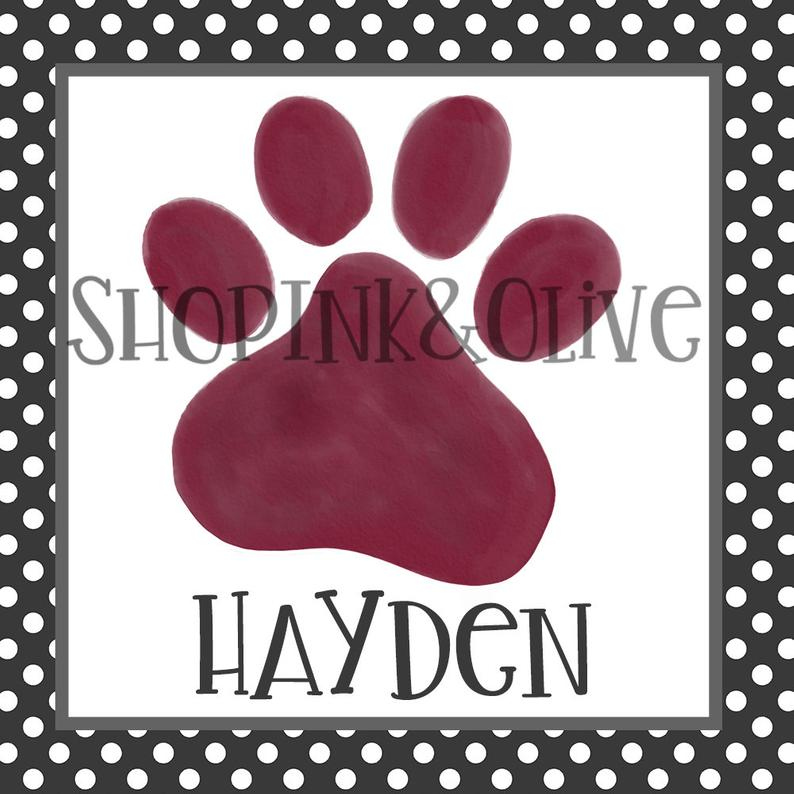 Paws clipart dawg. Watercolor png football cowbell