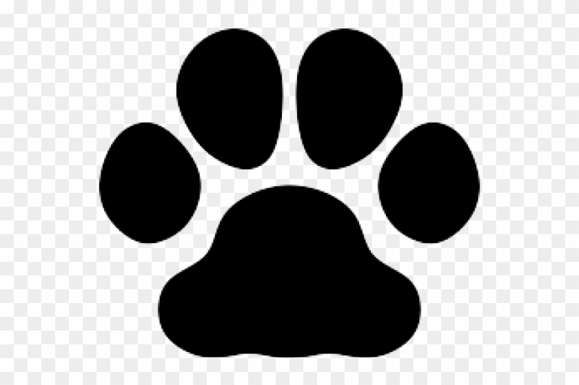 Paw print silhouette hd. Paws clipart dog foot