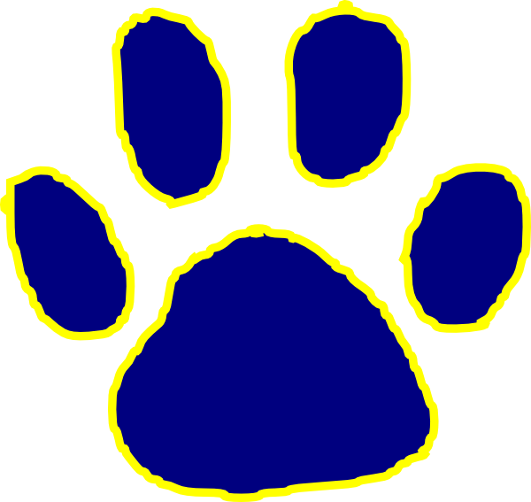 Bobcat print gold pawprint. Paw clipart ucla