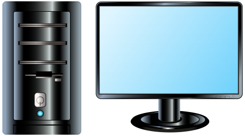 Pc clipart. Desktop png clip art