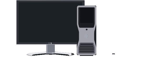 Pc clipart. Desktop clip art at