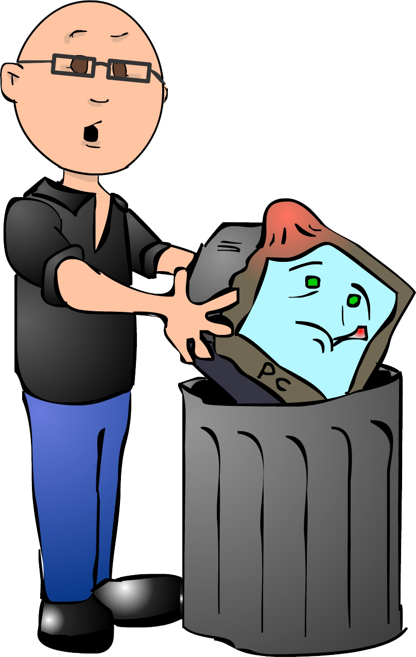 Fat guy bald special. Pc clipart computer animation