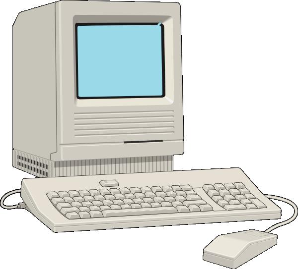 Antique clip art at. Pc clipart computer terminal
