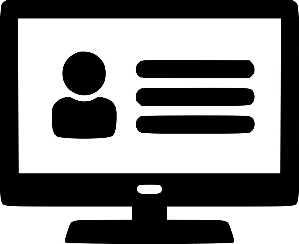 Website clipart network computer. Profile user svg png
