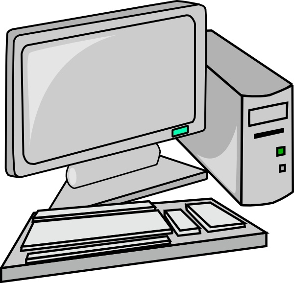 Desktop clip art free. Pc clipart design computer
