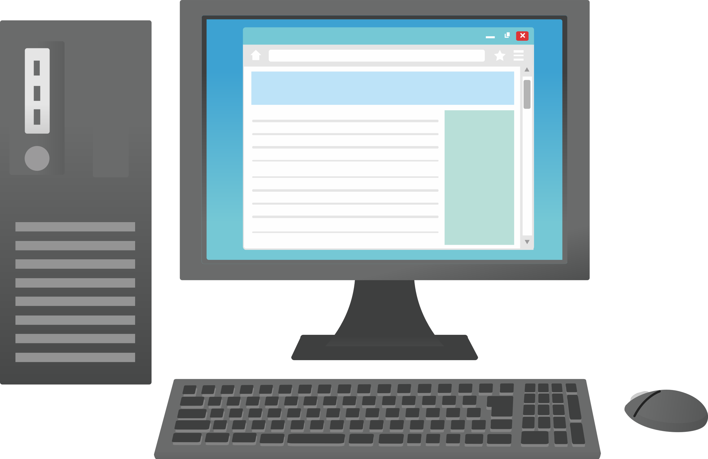 Computer big image png. Pc clipart desktop
