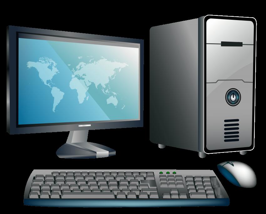 Computer png free images. Pc clipart desktop