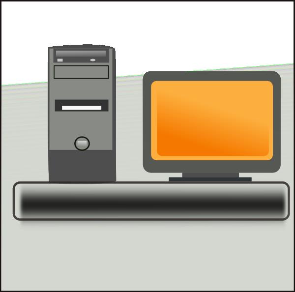 Computer clip art at. Pc clipart desktop tower