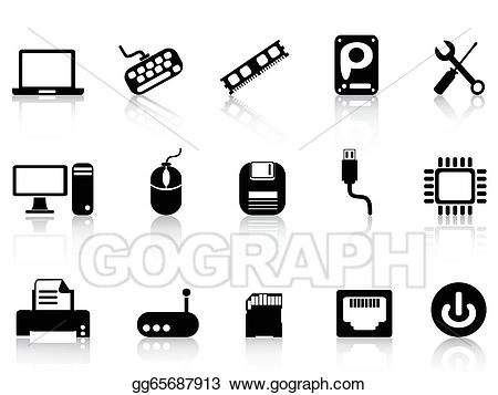 Pc clipart hardware. Vector art computer icons