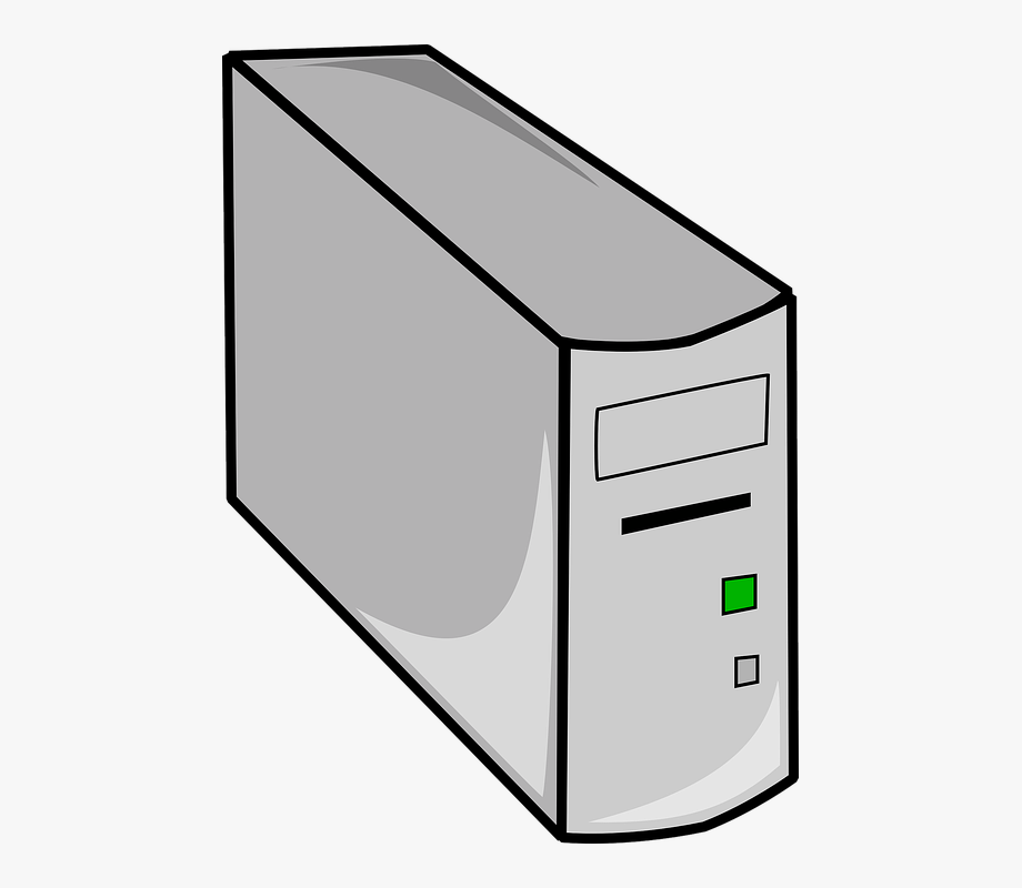 Cpu box computer desktop. Pc clipart hardware