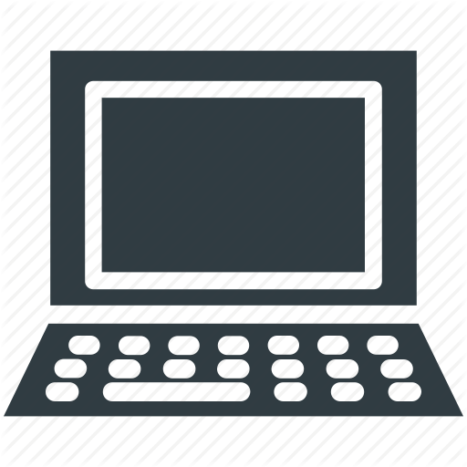 electronics glyphs by. Pc clipart mini computer