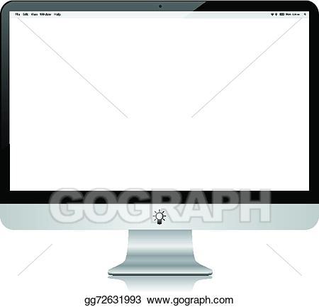 Clip art vector desktop. Pc clipart modern computer