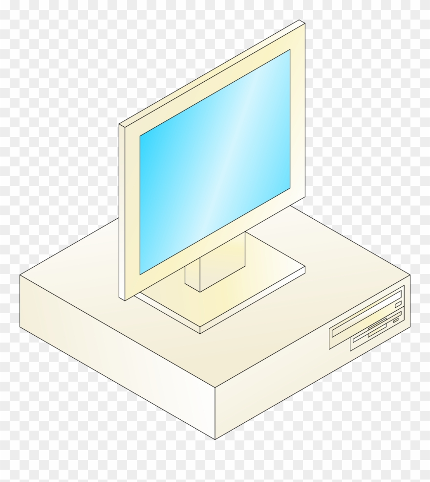 Pc clipart old computer. Portable network graphics png