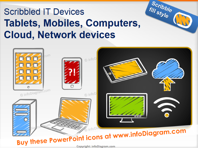 It devices scribbled tablet. Pc clipart powerpoint