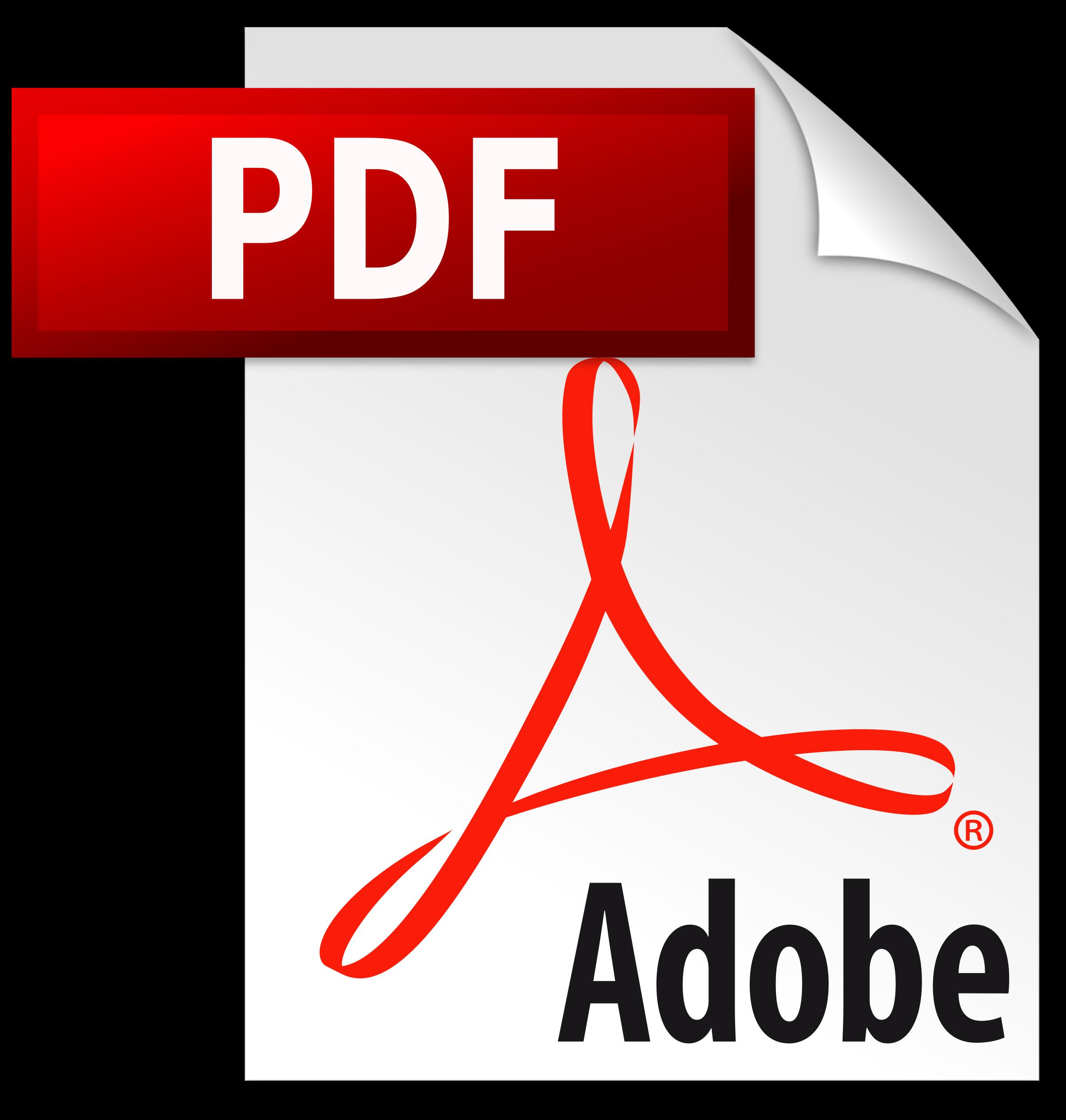 Adobe logo transparent biochek. Pdf icon png