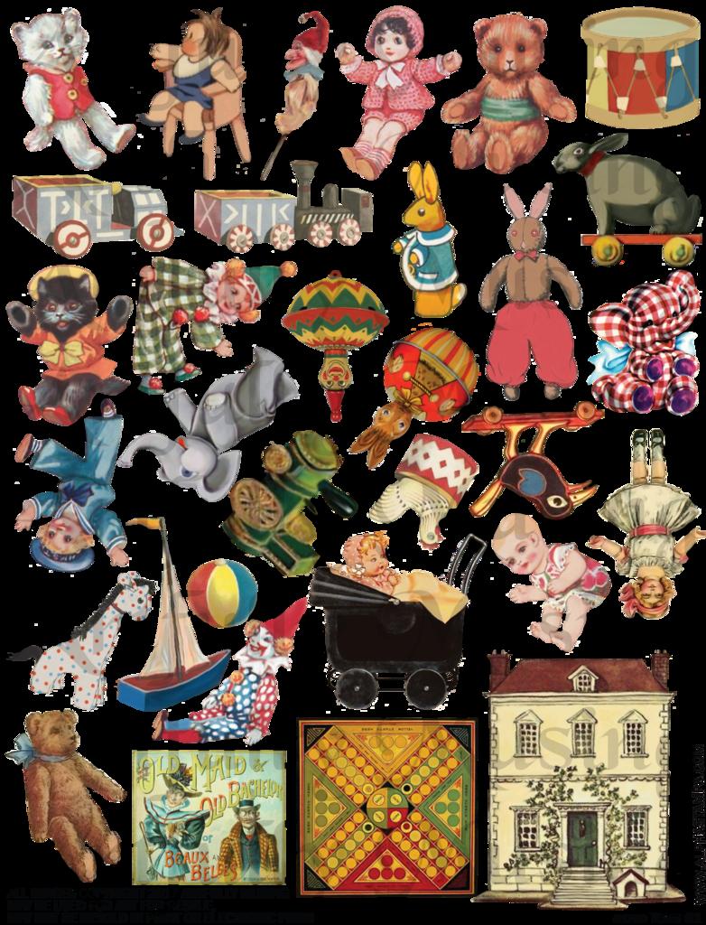 Artfully musing santa s. Pe clipart collage