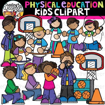 Physical education kids . Pe clipart school