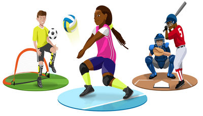 Pe clipart sport manager. Career as sports person