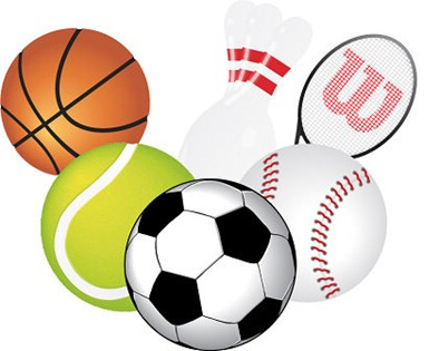 Free pictures of sports. Pe clipart sport stuff