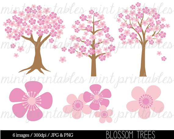Pe clipart spring. Tree clip art flower