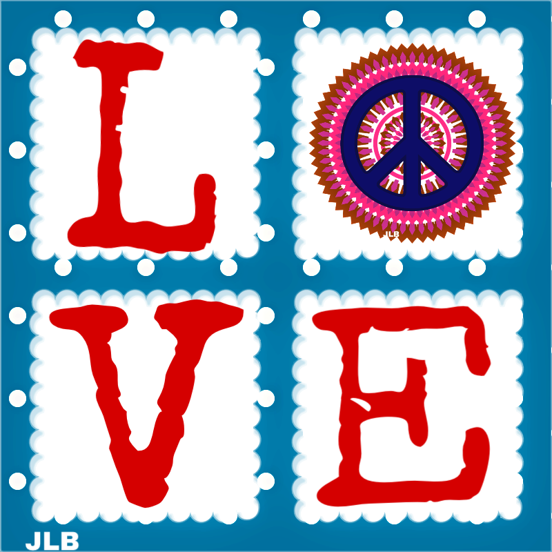 Peace clipart acknowledgement. L ve jlb think