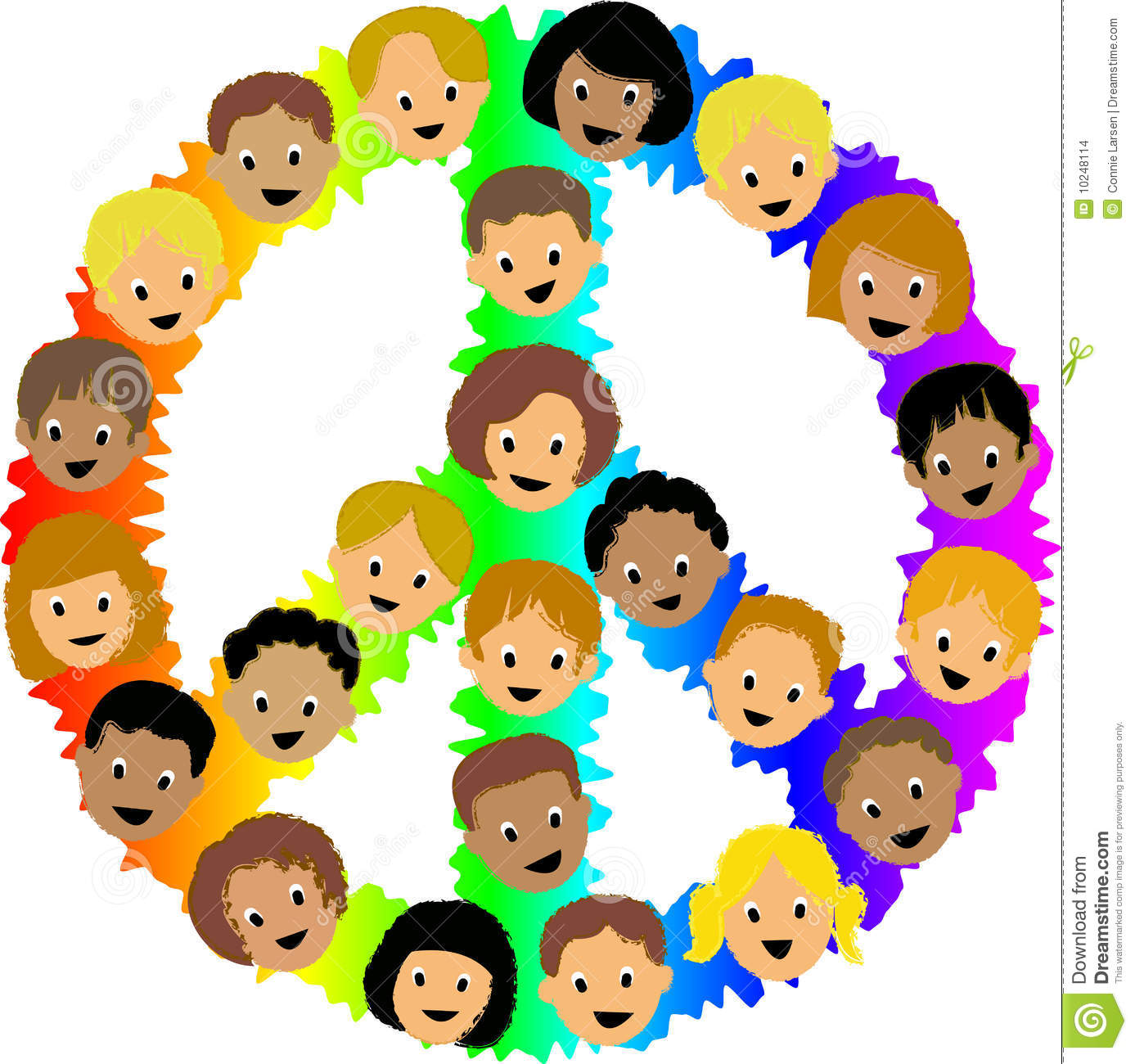 Children portal . Peace clipart child