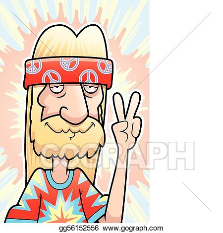 Eps illustration sign vector. Peace clipart hippie