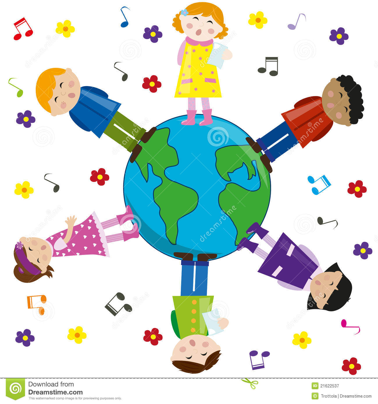 Children clip art free. Peace clipart multicultural