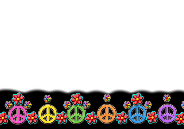 Sign clip art library. Peace clipart peace border