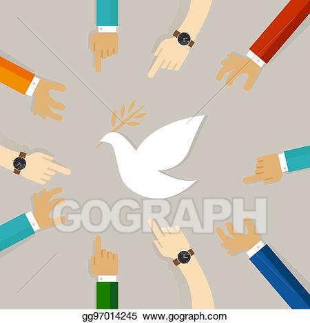 Peace clipart peace conflict. Eps vector resolution symbol