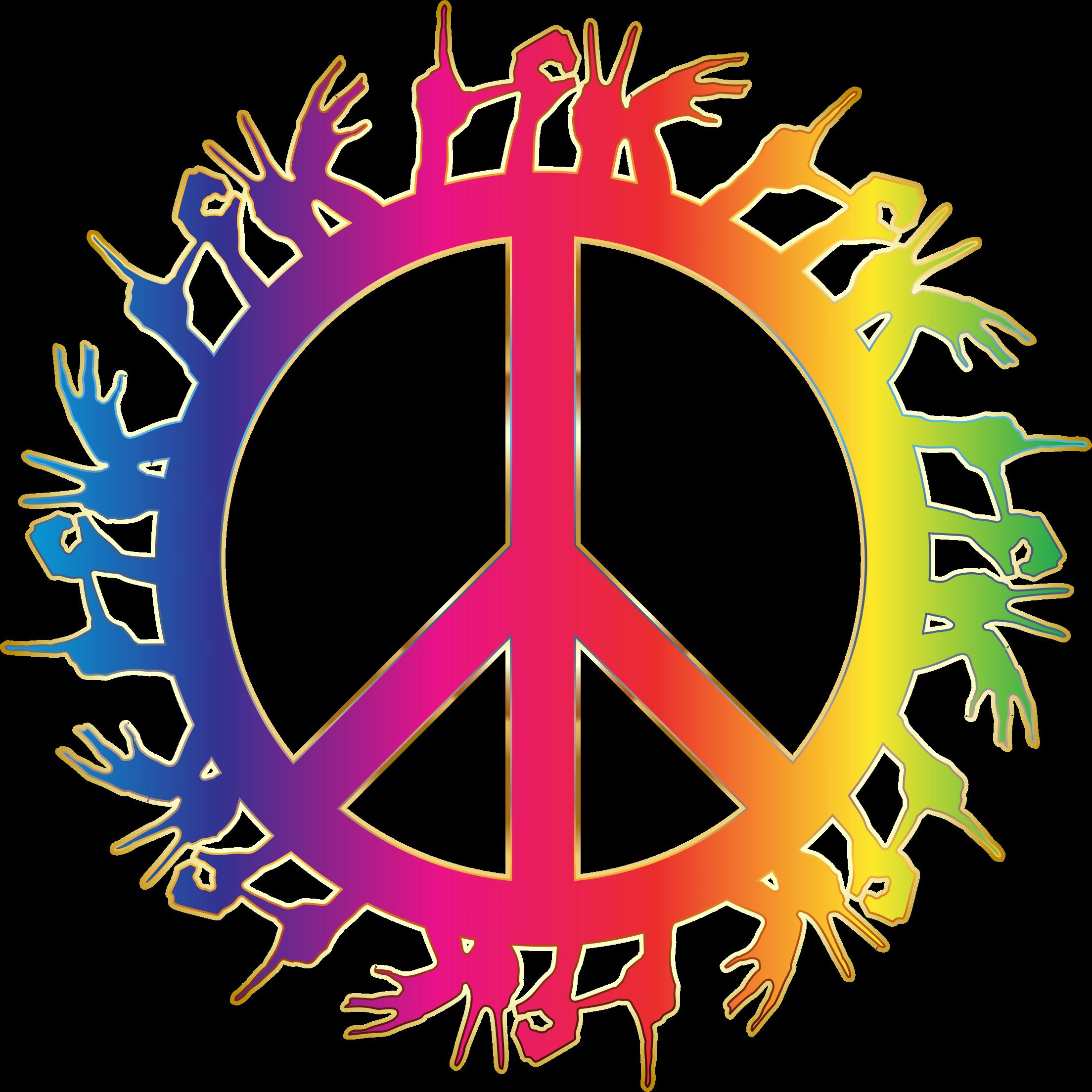 Peace clipart peace harmony. Prismatic love hands no