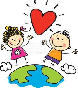 Love world kids illustration. Peace clipart peace kid