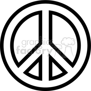 Symbol outline royalty free. Peace clipart peace logo