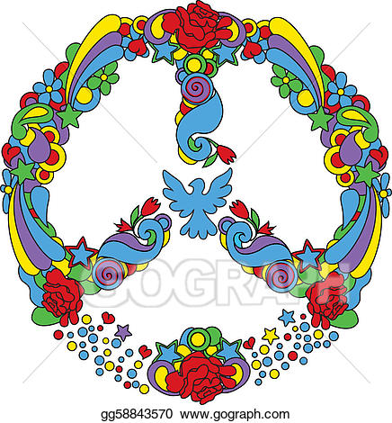 Peace clipart peace logo. Vector stock symbol with